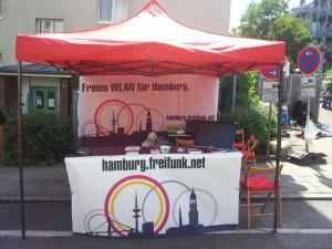Infostand auf dem Stadtteilfest Heimfeld